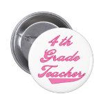 4th Grade Teacher Pink Badges