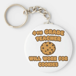 4th Grade Teacher  .. Will Work for Cookies Keychains