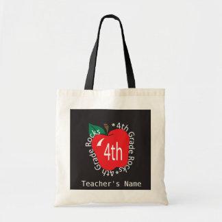 4th Grade Teachers Rock | DIY Name Tote Bag