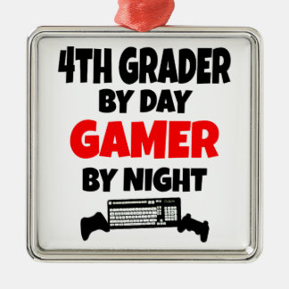 4th Grader by Day Gamer by Night Christmas Ornament