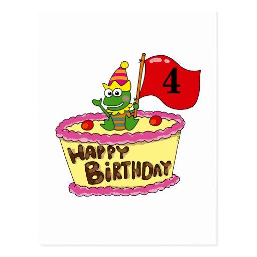 4th happy birthday post card