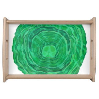 4th-Heart Chakra Clearing Artwork #1 Serving Tray