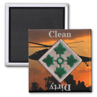 4th ID infantry division vietnam iraq war vets Square Magnet