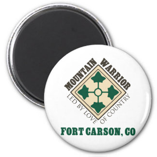 4th ID Mountain Warrior Fort Carson Magnet
