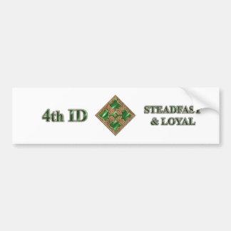 4th ID Steadfast and Loyal Bumper Sticker