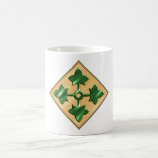 4th Infantry Division Basic White Mug