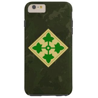"4th Infantry Division ""Ivy Division"" Dark Camo Tough iPhone 6 Plus Case"