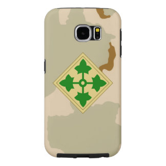 """4th Infantry Division """"Ivy Division"""" Desert Camo Samsung Galaxy S6 Cases"""