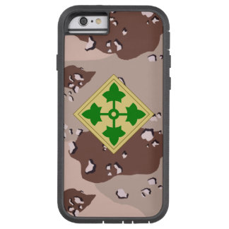"""4th Infantry Division """"Ivy Division""""  Desert Camo Tough Xtreme iPhone 6 Case"""