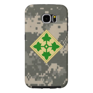 """4th Infantry Division """"Ivy Division""""  Digital Camo Samsung Galaxy S6 Cases"""