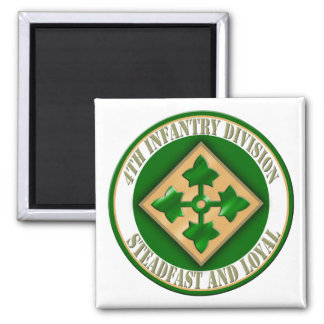 4th Infantry Division Square Magnet