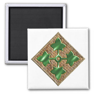 4th Infantry Division V2 Square Magnet