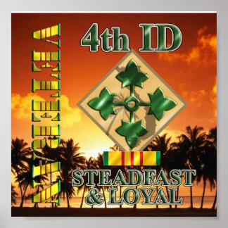 4th Infantry Division Vietnam Veteran Poster