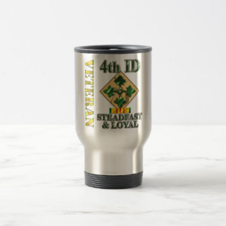 4th Infantry Division Vietnam Veteran Travel Mug