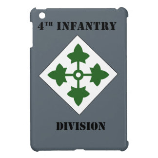 4th Infantry Division W/Text iPad Mini Cases