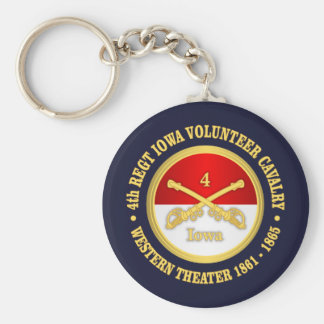 4th Iowa Cavalry Key Ring