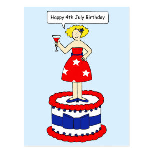 July 4th Birthday Cards Zazzle Uk