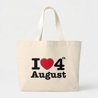 4th july birthday design canvas bag