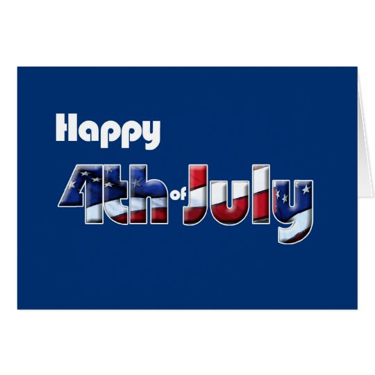 4th July card Patriotic humour