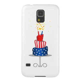 4th July Celebration Cake in Red, White and Blue Cases For Galaxy S5