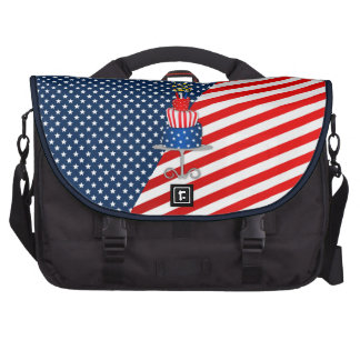 4th July Celebration Cake in Red, White and Blue Computer Bag