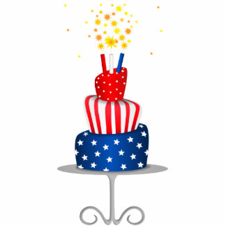 4th July Celebration Cake in Red, White and Blue Photo Cutout
