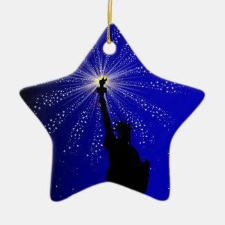 4th July Ceramic Star Decoration