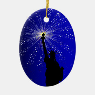 4th July Christmas Ornament
