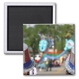 4th July hats Square Magnet