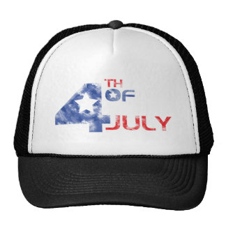 4th July - Independence Day - 4th July Grunge Trucker Hat