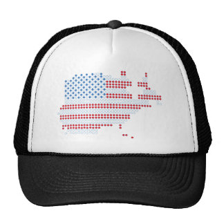 4th July - Independence Day - America Dot Matrix Trucker Hat