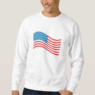 4th July - Independence Day - American Flag Wave Sweatshirt