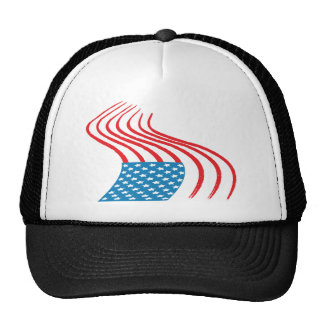 4th July - Independence Day - Flag Paint Graffiti Trucker Hats