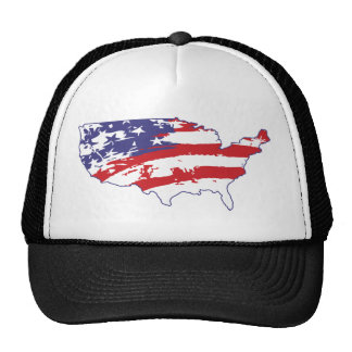 4th July - Independence Day - Graffiti America Mesh Hat