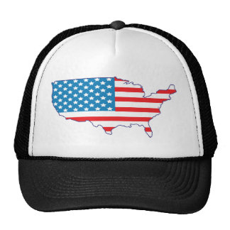 4th July - Independence Day - USA Flag Continent Mesh Hats