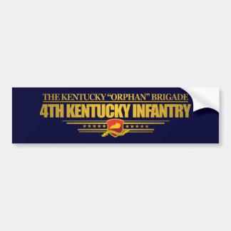 4th Kentucky Infantry Car Bumper Sticker