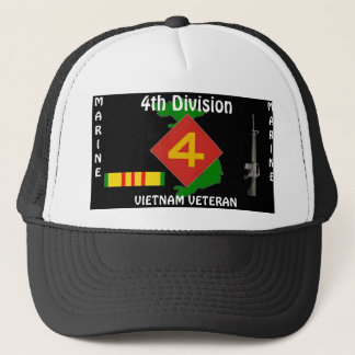 4TH Marine Div Vietnam Ball Cap 1/b