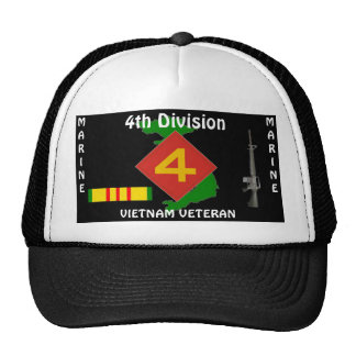 4TH Marine Div Vietnam Ball Cap 1/b Trucker Hat
