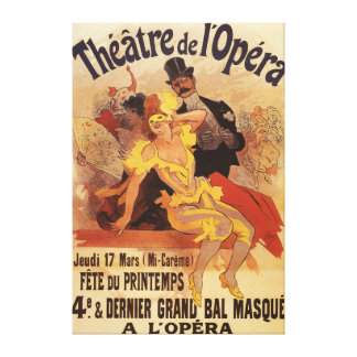 4th Masked Ball at Theatre de l'Opera Canvas Print
