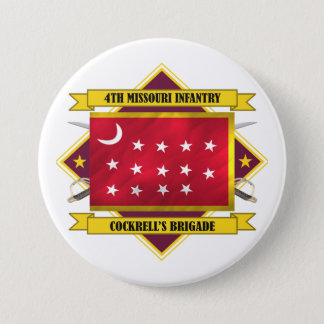 4th Missouri Infantry 7.5 Cm Round Badge
