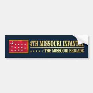 4th Missouri Infantry (BA2) Bumper Sticker
