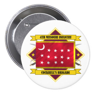 4th Missouri Infantry Pinback Buttons
