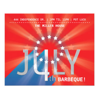4th of July 11.5 Cm X 14 Cm Flyer