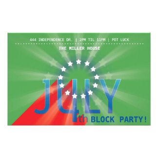 4th of July 14 Cm X 21.5 Cm Flyer