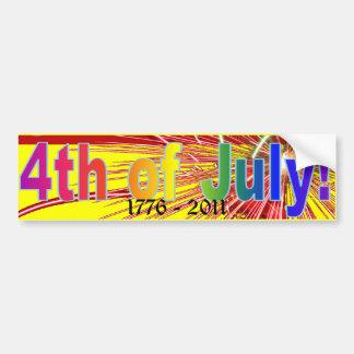 4th of July America Fireworks Bumper Sticker