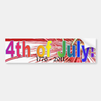 4th of July America Fireworks Bumper Stickers