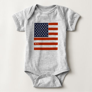"4th of July American Flag ""Be Free"" Baby Bodysuit"