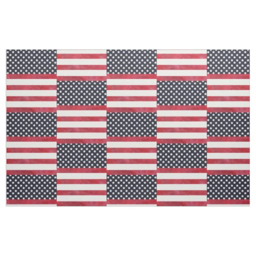 4th of July American Flag Independence Day Fabric