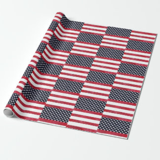 4th of July American Flag Independence Day Wrapping Paper