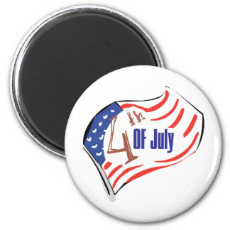 4th of July American Flag Magnet